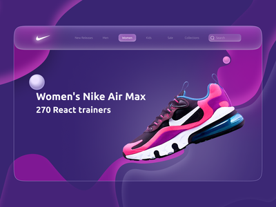 Nike: Shoe Marketplace web website landing page shoe neon dark nike e-commmerce shop marketplace concept branding logo graphic design