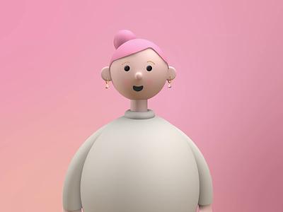 Lady (Moodeas Period Mood Tracker) illustration vector concept art design logo traker period app pink lady branding motion graphics graphic design 3d ui animation