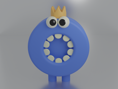 blue monster cute blue art illustration design animation concept monster logo branding motion graphics graphic design 3d