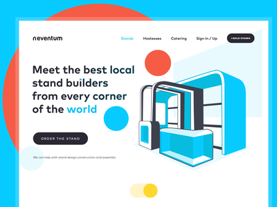 Landing Page with Hand-drawing Illustration flat illustration flat design website design webdesign corporate design media typography vector illustration landing page artwork art illustraion branding design sketch