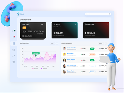 Payments Management Dashboard web ui ux