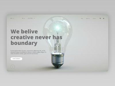 Creative ideas Landing Page web app ui design ux