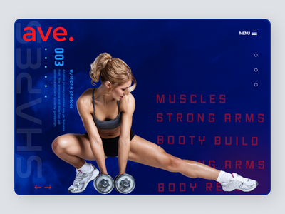 Personal Trainer Landing Page graphic design minimal website illustrator icon app typography illustration design ux