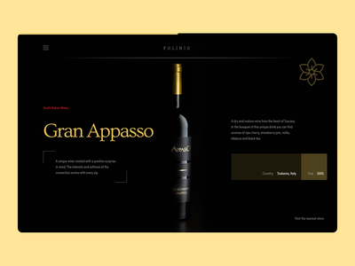 Wine Web Design graphic design website minimal illustrator web typography ui branding design ux