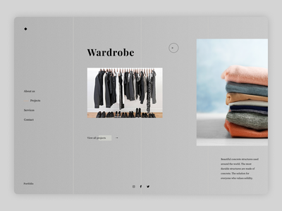 Wardrobe Landing Page wardrobewebsite wardrobelandingpage minimal website illustrator web typography ui branding design ux