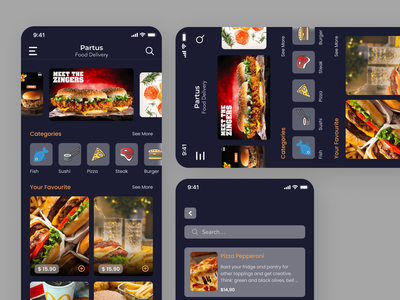 Food App minimal app ui design ux