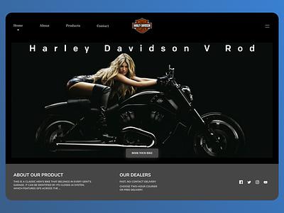Bikes Landing Page minimal website web ui illustrator typography branding design ux