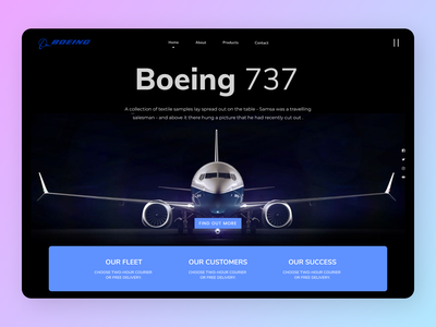Flight Landing Page graphic design website minimal web ui illustrator typography branding design ux