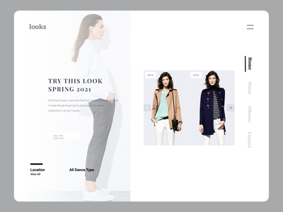 Fashion Landing Page minimal ui web illustrator typography branding design ux