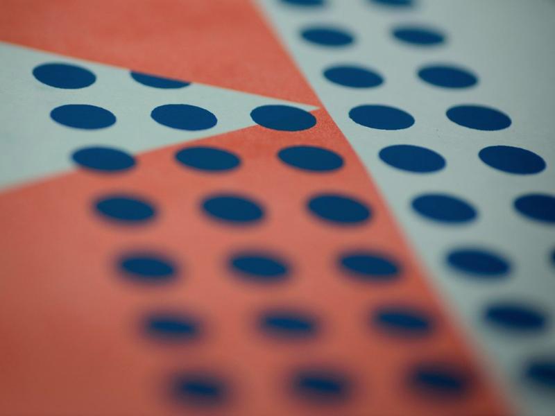Open by Design printmaking openstack ibm trying to be minimal orange blue screen print