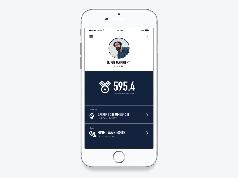 DailyUI Day: User Profile i dont know ios user profile daily ui