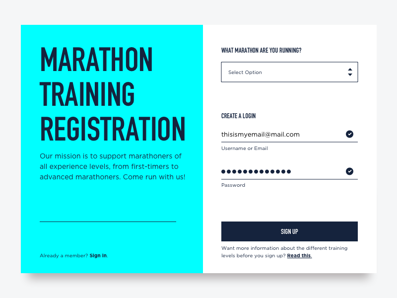 DailyUI Day: Sign Up sign up flow ux ui i dont know daily ui