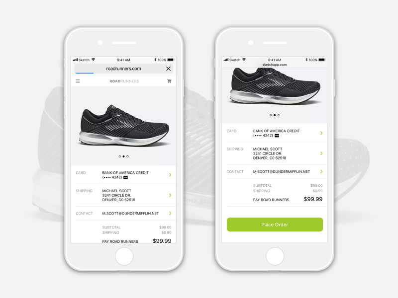 Checkout shoes running checkout dailyui