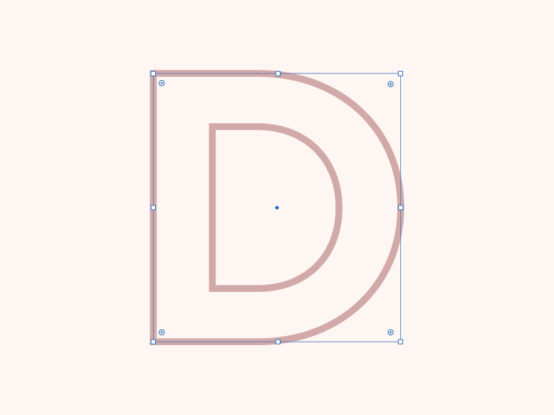 Selected letterform dusty pink pink d 26daysoftype type
