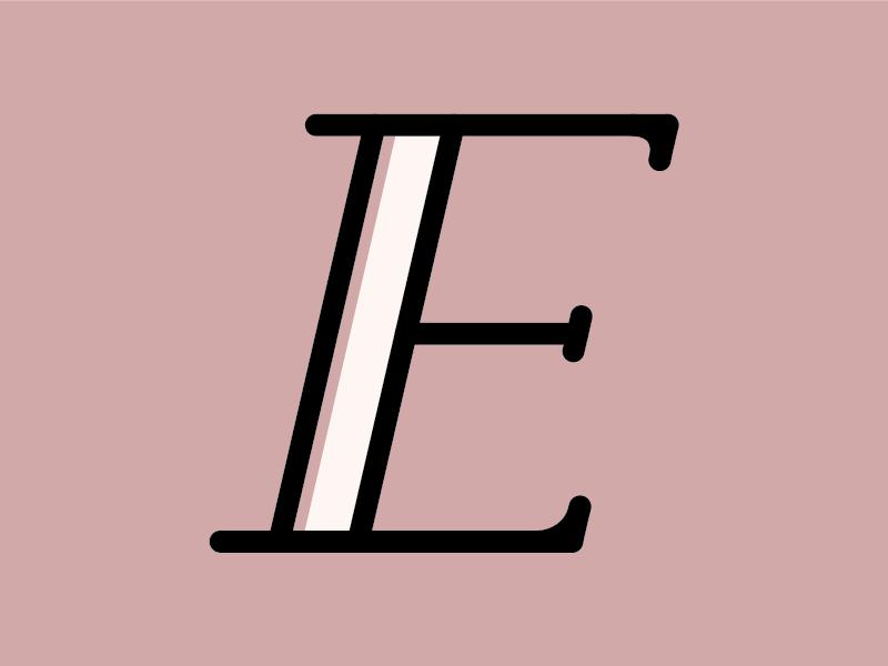 eeeeeeee bracket serif serif dusty pink pink dimension e 26daysoftype type
