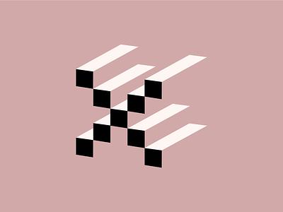 exxxxxxxx letterform black dusty pink pink dimension x 26daysoftype type