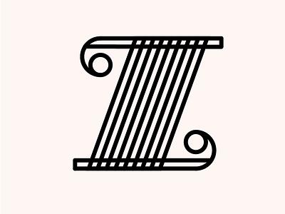 zeeeeeee letterform black dusty pink pink dimension z 26daysoftype type