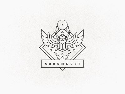 Aurumdust trip indiana egypt games glogotype logo jook sun bogachka luxary dust gold