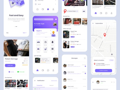 Repair-it UI Kit uiux interaction design uidesign repair app flat mobile ui ux cleanui ui design