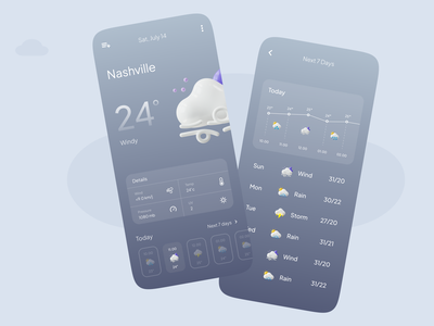 Weather app uxdesign daily ui interface ui  ux app interaction design weather app exploration uiux uidesign flat ux mobile ui cleanui ui design
