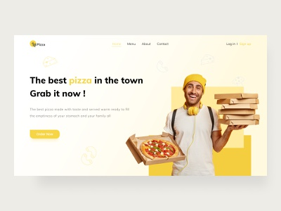 LaPizza - Landing Page uidesign cleanui uiuxdesigner ui  ux uiuxdesign web interaction design exploration landingpage interface uiux ux ui pizza pizza box
