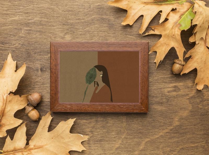 Digital Painting leaf brown design fall digital digital art digital painting