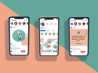 Social Media Layout Design traveling travel instagram post instagram blue pink layout design layout social media design social media digital brand branding digital art design