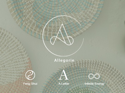 Logo Design for Allegorie minimalist logo minimal lettermark logo concept logotype icon mark digital logos mockup design brand identity branding branding logo logodesign logo design design
