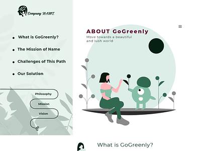 Website Design for GoGreenly 2d art green webdesign websites animation 2d animation 2d character website website design app web vector icon branding ux ui illustration digital art digital design