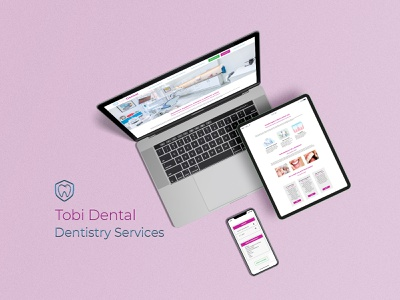 Website Design for Tobi Dental dental website design dental dental care website design dentist ui ux websites website ux ui mockup identity branding branding digital art digital design