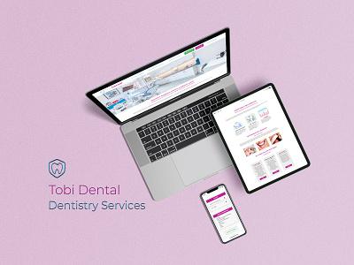 Website Design for Tobi Dental dental website design dental dental care website design dentist ui ux websites website ux ui mockup identity branding branding digital art digital design