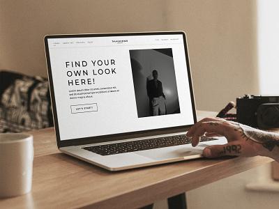 Website Design for Talal Shehab ux website design web design website modern chic fashion blog blogger fashion shopify develop ui brand identity branding digital digital art design di branding