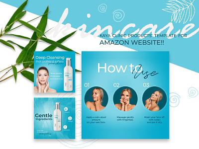 Amazon Product Advertisement Design for Kaya product cosmetics advertisement amazon graphic design brand branding identity branding digital art design digital
