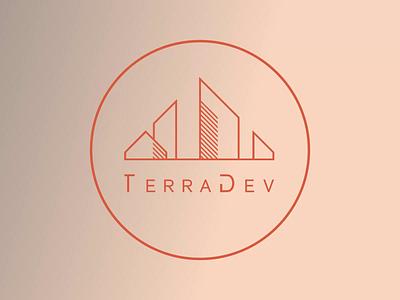 Logo Motion Design for TerraDev buildings architecture linear art 2d art 2d logo graphic design motion graphics animation illustration logo design identity branding branding digital art digital design