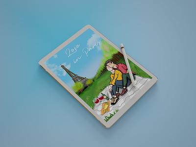 Digital Painting for Love in Paris colorful pride month pride teen love young love love painting digital painting 2d art 2d art vector illustration digital art digital design