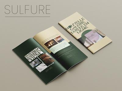 Brochure Design for SULFURE colors green art french minimal modern brochure brochure design graphic design brand identity branding branding digital art digital design