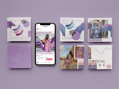 Social media Design for Jutique purple post design post instagram social media social media design 2d art 2d graphic design logo illustration brand identity branding branding digital art digital design