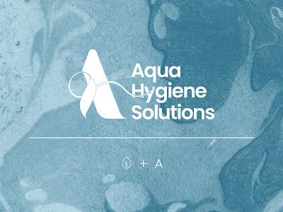 Logo Design for Aqua Hygiene Solutions minimal lettermark modern health blue covid 19 healthcare 2d art 2d logo design graphic design vector logo illustration brand identity branding branding digital art digital design