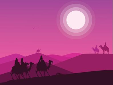 Desert graphic design ui ux illustrator minimal flat vector logo illustration design