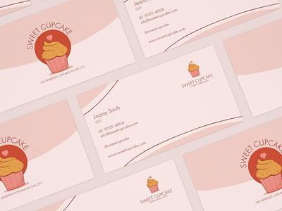 Sweet Cupcake Business Card businesscardsdesign businesscards vector typography logo illustration icon graphic design flat design illustrator branding