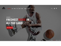 Adidas Home Page Redesign