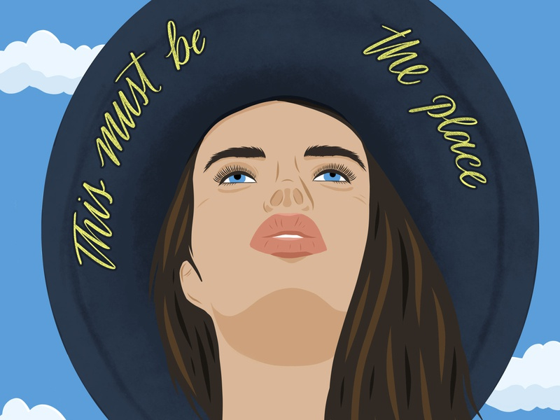 This must be the place woman editorial handlettering lettering vector people illustration