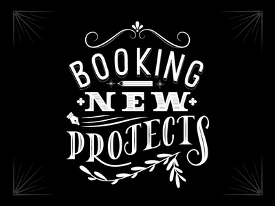 Booking New Projects! available for freelance designer for hire creative creative for hire freelance design illustration print design lettering packaging branding
