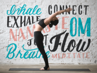 Yoga Lettering Collage
