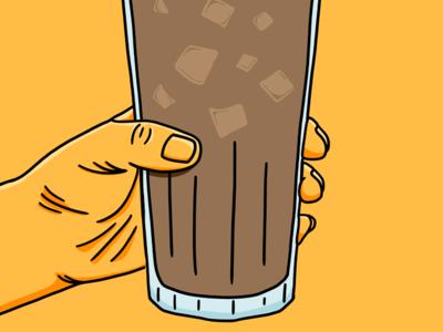 Iced Coffee Season food beverage iced coffee yellow photoshop line work freelance illustration illustrator illustration coffee