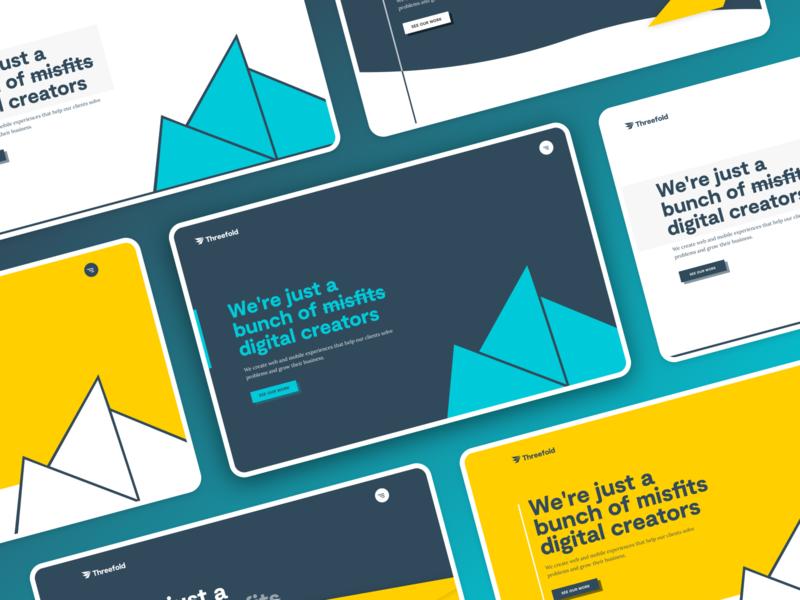 Homepage ideas for Threefold
