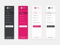 Side Navs for Reviewr simple clean branding logo design app minimal web design uxdesign ui ux side menu sidebar nav