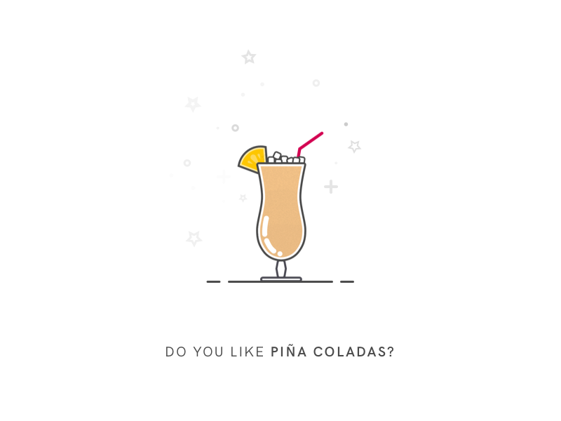 Do You Like Piña Coladas? piña colada line art cocktail drink illustration