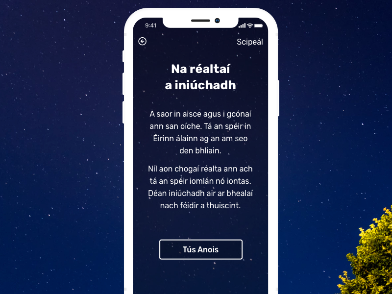 As Gaeilge stars app mobile dark space vouchers iphone x iphone