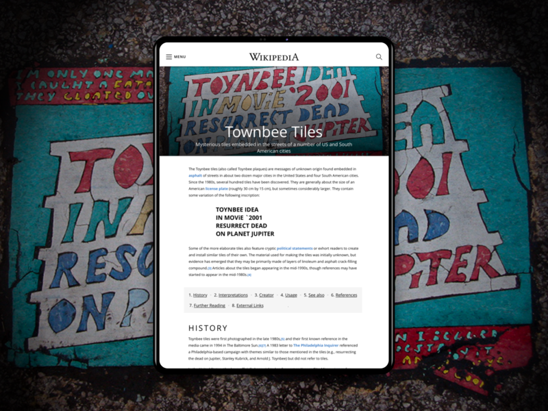 Wiki design for iPad typography ux ui design mobile ios ipad article design article blog wiki